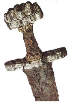 Viking Swords had heavy decorative pommels (the knob on the hilt of the sword). The true purpose of this design was to counter balance to the weight of the blade, making the weapon light and fast and flexible in the hands of an experienced swordsman.