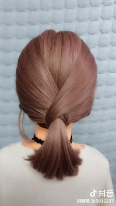Easy Hairstyles For Long Hair, Braided Hairstyles Tutorials, Girl Hairstyles, Hairstyles For Short Hair Easy, Homecoming Hairstyles Short Hair, Easy Hair Tutorials, Easy Elegant Hairstyles, Hair Tutorial Videos, Ponytail Hairstyles Tutorial