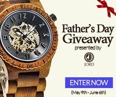 This Father's Day, treat your dad with a gift he deserves. Win him the best Father's Day gift - a cool wood watch from JORD.