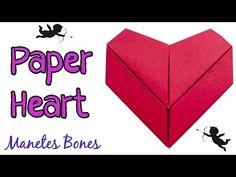 Ideas de San Valentín. Episodio 11: Corazón de Origami   Viernes de papel   Manetes Bones
