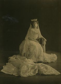 Portrait of the Governors wife, Rachel, Lady Dudley, in court dress, 1911, autographed and presented to the NSW Bush Nursing Association / photographer unknown, London   Flickr - Photo Sharing!