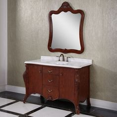 Photo Album Website Shop for Carrara White Marble Top Brown inch Single Sink Bathroom Vanity with Matching