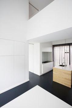 black floor + white walls