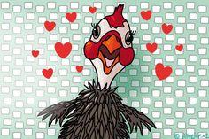 "Gratis e-card: ""Verliefde+vogel"""