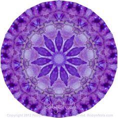 """""""Higher Consciousness"""" Amethyst Gemstone Mandala Art by Robyn Nola"""