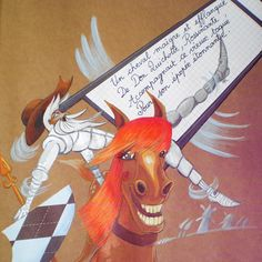 Don Quichotte et son cheval