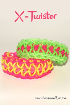 X Twister Rainbow Loom Bracelet How to Video Tutorial