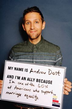 Fun.'s Andrew Dost for gay rights