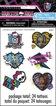 Tattoos Monster High Party Supplies : Perfect Party by Cody
