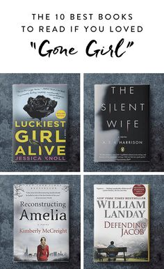 """The 10 Best Books to Read If You Loved """"Gone Girl"""" via @PureWow"""