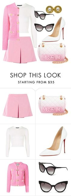 """Barbie girl"" by arantxaserrano ❤ liked on Polyvore featuring Love Moschino, Moschino, Topshop, Christian Louboutin, Wildfox and Chanel"