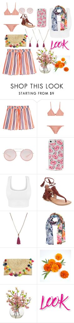 """in the summer"" by nadialestari99 ❤ liked on Polyvore featuring Diane Von Furstenberg, Melissa Odabash, Prada, Skinnydip, Sigerson Morrison, Kate Spade, Laura Biagiotti and NYX"