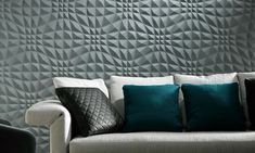 Enigma, an exquisite three-dimensional textile wallcovering on non-woven backing