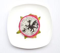 Dregon by Hong Yi (Red) #foodart #funfood