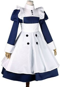 FOCUS-COSTUME Black Butler Mey-Rin Dress Cosplay Costume >>> Learn more by visiting the image link.