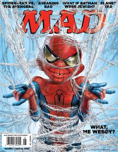 MAD Magazine 516 Cover: The Amazing Spider-Man Alfred E Neuman