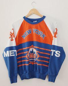 6e60812fcf7a69 Vintage 80 s New York Mets Garan Crewneck Long by SonnyBuffalo Vintage  Sportswear