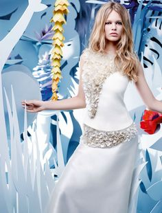 """""""Belle Plante"""":   Model: Anna Ewers Photography: Karl Lagerfeld  ZsaZsa Bellagio – Like No Other: She's got GLAM!"""