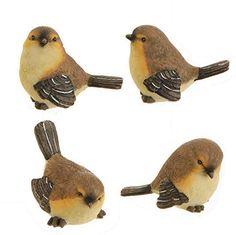 "RAZ Imports Spring Brown & Peach 2.5"" Song Birds Set of 4"