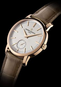 The classic and timeless Patrimony Traditionnelle small seconds celebrates the inauguration at Rue de la Paix of an pink gold spe. Lux Watches, Rose Gold Watches, Stylish Watches, Cool Watches, Fashion Watches, Mens Watches For Sale, Luxury Watches For Men, Rolex, Vacheron Constantin