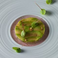 Marinated langoustines-#avocado-and-pink-ginger-jus