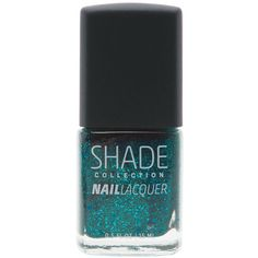 Shade Collection Moody Turquoise (Blue) nail lacquer ($3.85) ❤ liked on Polyvore featuring beauty products, nail care, nail polish, makeup, beauty, nail and blue