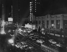 Hollywood Blvd on the night of the Academy Awards in 1951