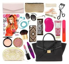 """""""Hanna Marin inspired bag essentials - updated"""" by liarsstyle ❤ liked on Polyvore featuring Vera Bradley, Forever 21, Tweezerman, MAC Cosmetics, Maybelline, Milani, Mossimo, FOSSIL, Evolutioneyes and Topshop"""