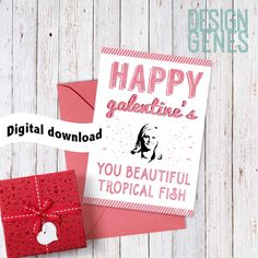 """New to DesignGenesStudio on Etsy: Printable Galentine's day card """"Happy galentine's day"""" Leslie knope parks and rec valentine's card Parks and recreation instant download (5.00 USD)"""