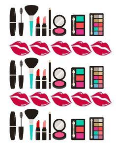 37 Makeup Planner Stickers, Calendar Stickers, Weekly Planner, Erin Condren, Filofax, Plum Paper, Sticker