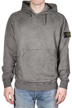 STONE ISLAND Hoodie Used Look | Men | New Arrivals | mientus online store Stone Island Hoodie, Online Shops, Zipper, Hoodies, Store, Clothing, Model, Sleeves, Sweaters