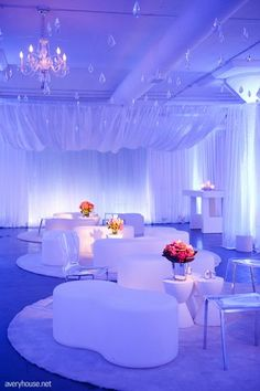Modern lounge, inspiration for birthday party. http://www.EventCanvass.com