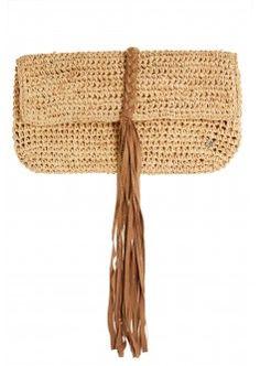 Abaco Crochet Raffia Clutch