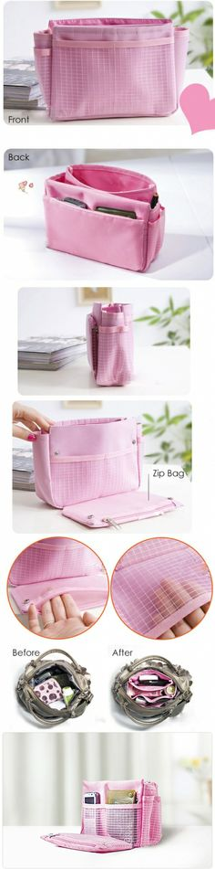 Cheapest! Only $2.99 for Bag in Bag Organiser; 3 Colors Available (Minimum 3 Purchases) | Singapore Group Buying - NiceDeal.SG nice way to s...