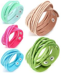 Crystal Rhinestones Soft Comfortable Velvet Adjustable Size Button Clasps Friendship Bracelet, fashion sale