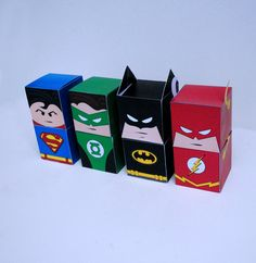 Diy Printable Superhero Cupcake Holder Box Set Treat Box Party Box PDF File Kit