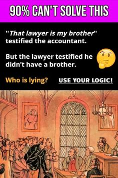 Tricky Riddles With Answers That Will Challenge You! Tricky Riddles With Answers, Best Riddle, A Brother, Brain Teasers, Clever, Memes, Challenge, Mind Games, Meme