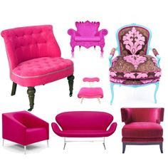 A Pink Chair, created by leiastyle on Polyvore