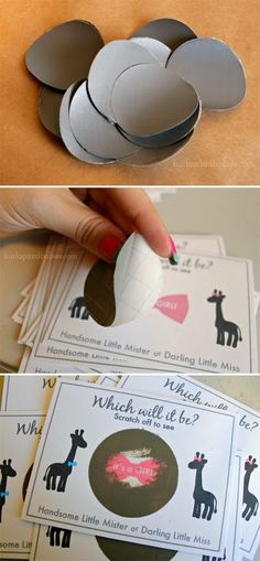 How to make your own gender reveal scratch-it at BurlapandBabies.com