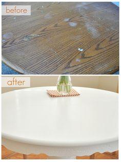 de mesa antes e depois
