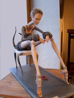 "doll in Riga Doll Museum, Latvia exhibition ""Harvest"""