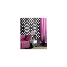 Trendy stencil designs, trellis wall patterns, reusable wall... - Polyvore $39