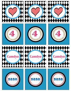 Alice in Wonderland Party Circles
