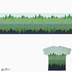 Mountains during day and night on Threadless
