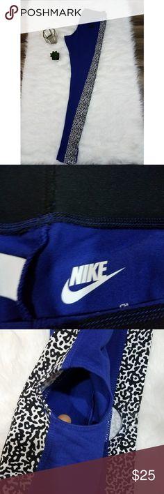 Nike training leggings. Super cute nike training leggings with openings at the bottom,  like new conditon Nike Pants Leggings