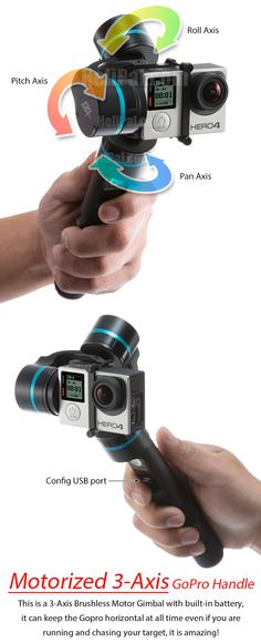 Feiyu G4 Handheld Stabilizer for GoPro HERO 3 and 4 (3-Axis) http://www.helipal.com/feiyu-g4-handheld-stabilizer-for-gopro-hero-3-and-4-3-axis.html