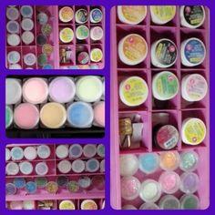 Pigmentos y acrilicos de color