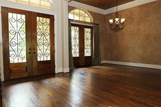 faux finish with white crown molding with a tuscan look