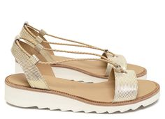 Chaussures Femme Sandales Printemps Ete 2015 Maurice Manufacture BOSS Cuir razza blanc/or