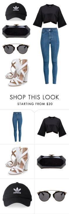 """""""Chic outfit # 1"""" by fashion-life4me on Polyvore featuring H&M, Miss KG, Chanel, adidas and Christian Dior"""